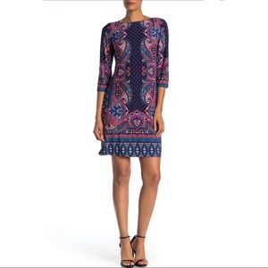 London Times Women's Shift Dress Paisley Medium